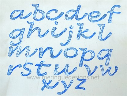 Picture of Scribbled Cursive Alphabet